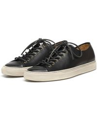 Buttero Black Leather Tanino Low Profile Sneakers black - Lyst