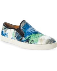 Steve Madden Blue Ebony Slip-On Sneakers - Lyst