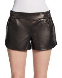 Twelfth Street Cynthia Vincent - Leather Gym Shorts - Lyst