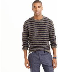 J.Crew - Donegal Wool Jumper In Stripe - Lyst