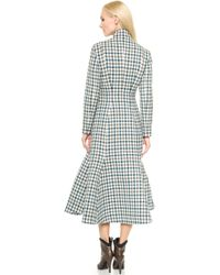 Vika Gazinskaya - Checked Wool Coat - Lyst