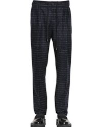 Andrea Pompilio 19Cm Striped Wool Flannel Trousers - Lyst