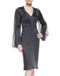 Zac Posen Longsleeve Cocktail Dress - Lyst