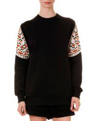 Givenchy - Printed-sleeve Knit Sweatshirt - Lyst