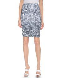 McQ by Alexander McQueen Contour Skirt - Foil - Lyst