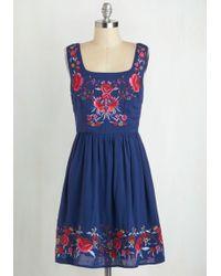 Sunny Girl Pty Lltd - Judy Blue Skies Dress In Cobalt - Lyst