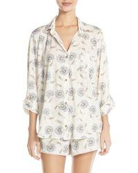 Lucky Brand | Print Cotton Short Pajamas | Lyst