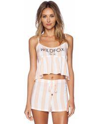 Wildfox Multicolor Costa Cami - Lyst