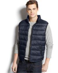 Calvin Klein Packable Puffer Vest blue - Lyst