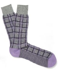Pantherella - Light Purple Capri Grid Socks - Lyst
