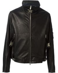 Obscur - Zip Up Fitted Jacket - Lyst