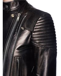 Givenchy - Lamb Leather Wool Combo Coat - Lyst