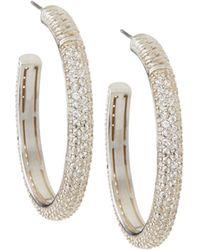 Slane - Cabaret White Sapphire Oval Hoop Earrings - Lyst
