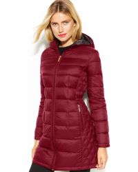 Michael Kors Michael Quilted Down Packable Puffer Coat - Lyst