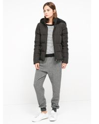 Mango - Feather Down Hooded Coat - Lyst