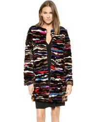Diane Von Furstenberg Fur Finale Coat   - Lyst