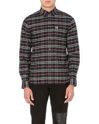 Fred Perry House Tartan Shirt Navy - Lyst