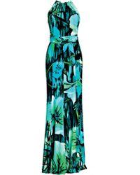 Matthew Williamson Jungle Flower Jersey Gown - Lyst