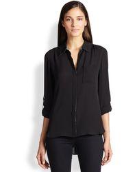 Diane Von Furstenberg Lorelei Two Trimmed Silk Shirt - Lyst