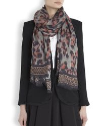 Lara Bohinc - Blurred Leopard Print Scarf - Lyst