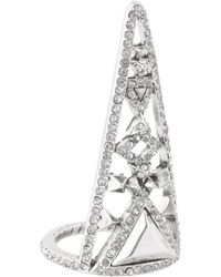 House Of Harlow 1960 Tres Tri Finger Ring - Lyst
