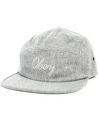 Obey Heslinki Grey Marl Wool 5 Panel Cap - Lyst