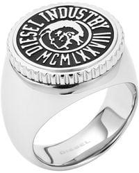 Diesel Silver Ring Dx0889 - Lyst