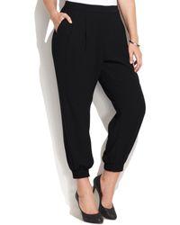 Calvin Klein Plus Size Pleated Soft Pants - Lyst