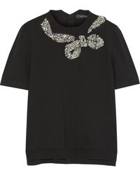 Marc Jacobs Embellished Wool-blend Sweater - Lyst