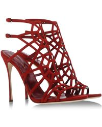 Sergio Rossi Sandals red - Lyst