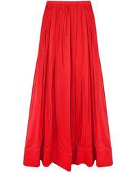 Cynthia Rowley Trapunto Maxi Skirt - Lyst
