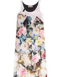 Preen Printed Silk Dress floral - Lyst