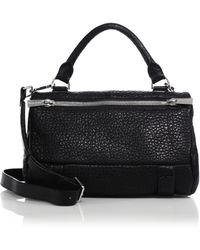 Golden Lane - Duo Small Pebbled Leather Satchel - Lyst