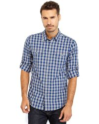 DKNY Gingham Sport Shirt - Lyst