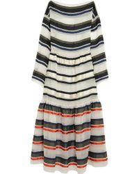 Sonia Rykiel Striped Organza Dress - Lyst