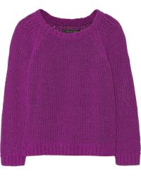 Rag & Bone Kendall Knitted Cotton-Blend Sweater - Lyst