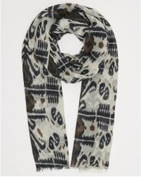Day Birger Et Mikkelsen Printed Black Day Inka Scarf - Lyst