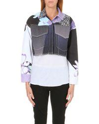 3.1 Phillip Lim Floral-detail Denim Jacket - Lyst
