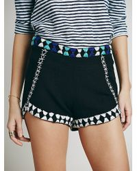 Free People Zoe Embrodiered Brief - Lyst