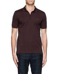 Lanvin Sneaker-Logo Cotton Polo Shirt - Lyst