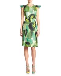 Burberry Prorsum Floral-Print Sheath green - Lyst