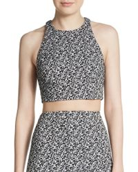 Elizabeth And James Upton Jacquard Crop Top - Lyst