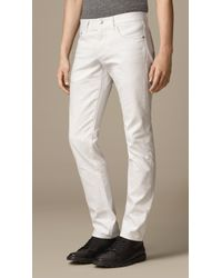 Burberry Straight Fit White Jeans - Lyst