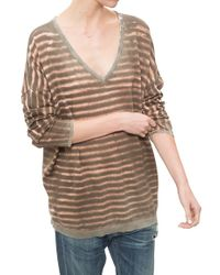 George Loves Oversized V Neck khaki - Lyst