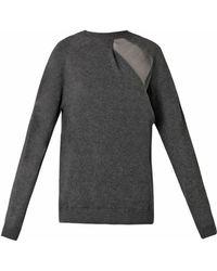 Alexander Wang Sheer Peel-Away Knit Sweater - Lyst