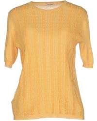 Miu Miu Yellow Jumper - Lyst