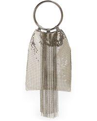 Whiting & Davis Cascade Fringe Evening Bag - Metallic silver - Lyst