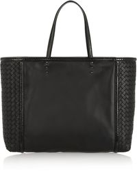 Bottega Veneta Shopping Ayerstrimmed Leather Tote - Lyst