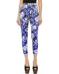 Jean Paul Gaultier Printed Pants - Blue Multi - Lyst
