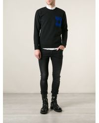McQ by Alexander McQueen Check Printed Chest Pocket Sweater - Lyst